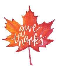 Give thanks leaf