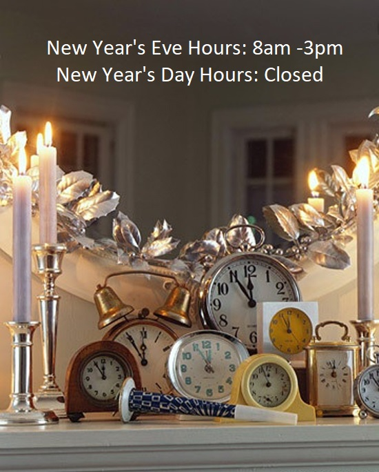 Happy New Year's holiday hours