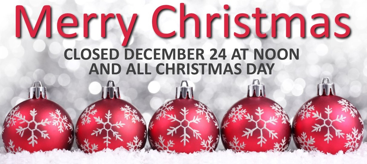 Holiday hours listed