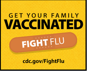 get your family vaccinated cdc.gov/FightFlu image