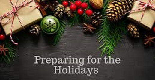 Preparing for the holidays